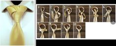 Fancy Necktie Knot Tutorial: Knotilus knot in 10 steps named after the Nautilus sea creature
