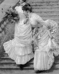 Vittorio Matteo Corcos Pretty Packaging, Chiaroscuro, Victorian, Dreams, Black And White, Rose, Board, Color, Fashion