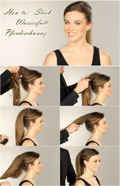 How to do a Nicole Richie waterfall ponytail hair tutorial