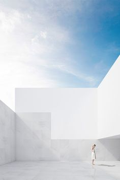 Zarid House. Casa Zarid. #FranSilvestreArquitectos #AlfaroHofmann #Tarifa #architect #architecture #newproject #comingsoon #model #rendering #visualization #project #day #sky #bluesky #minimal #light #lighting #sunny #marble #zaridhouse #minimalhouse #contemporánea #vivienda #volúmenes #volumes