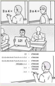 (notitle) - Memes and stuff - Jokes Funny Science Jokes, Math Memes, Nerd Jokes, Funny School Jokes, Math Humor, Very Funny Jokes, Crazy Funny Memes, Really Funny Memes, Funny Facts