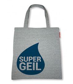 """Sticky Jam Sweet-Shopper """"Super Geil"""" Blau Polyester Tasche Einkaufstasche  - 2-flowerpower"""
