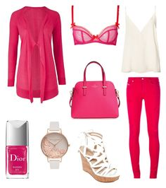 """""""FushiaLady"""" by marmotte-mary on Polyvore featuring Diesel, Anine Bing, L'Agent By Agent Provocateur, GUESS, Kate Spade, Olivia Burton and Christian Dior"""