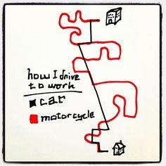 Motorcycles make commuting enjoyable. #motorcycle #bikelife #justride