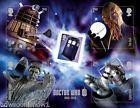 2013 50th Anniv. Doctor Who UK Stamp Sheet TARDIS Dalek Ood Weep Angel Cyberman
