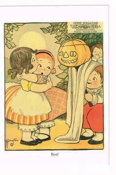 Dolly Dingle Halloween Postcard G.G.Drayton by FunkydevazVintage, $5.00