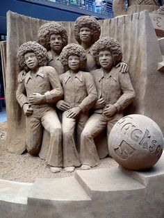 Jackson 5 (detail of Tribute to Michael Jackson) Snow Sculptures, Sculpture Art, Metal Sculptures, Abstract Sculpture, Bronze Sculpture, Statues, The Jackson Five, Ice Art, Snow Art