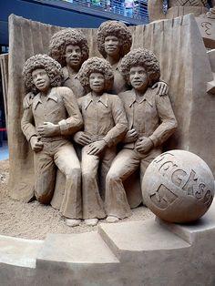 Jackson 5 (detail of Tribute to Michael Jackson) Statues, Snow Sculptures, Metal Sculptures, Wood Sculpture, Bronze Sculpture, The Jackson Five, Ice Art, Snow Art, Human Art