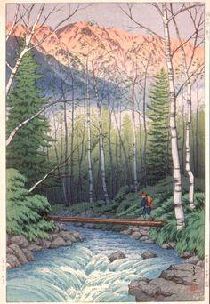Dawn at Takegawa, Japan Alps Itō Takashi (Japan, 1894-1983) Japan, 1932 Prints; woodcuts Color woodblock print Image: 14 5/16 x 9 7/8 in. (36.3 x 25.0 cm); Paper: 15 5/16 x 10 3/8 in. (38.9 x 26.3 cm) Gift of Mr. and Mrs. Felix Juda (M.73.37.440) Japanese Art