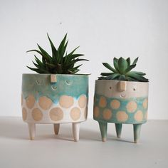 cutest little pots for plants - Atelier Stella ceramic artist Pottery Pots, Slab Pottery, Ceramic Pottery, Ceramic Plant Pots, Ceramic Flower Pots, Hand Built Pottery, Pottery Designs, Pottery Ideas, Succulent Pots