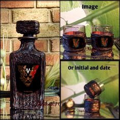 Custom Whiskey Decanter Personalized Gift For Him Home