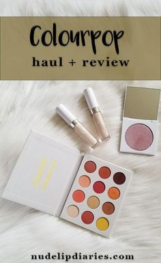 Colourpop Haul & Review || If you're an avid reader of my blog or follow me on Instagram you'll know how obsessed with Colourpop I am. I pretty much want just about every product that they have released. Lately they've … || #bblogger #beautyblog #colourpop #colourpopreview #colourpopyesplease #yespleasepalette #concealers #colourpopconcealers #highlighter #colourpophighlighter