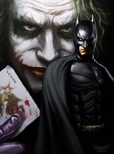 The Bat and the Joker by Wulfsbane.deviantart.com on @deviantART