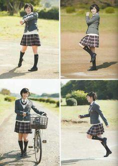 Kurashima Sara High School Girls, High School Students, Girls Uniforms, School Uniforms, Japanese High School, Navy Seals, Historical Pictures, Kawaii, Photoshoot