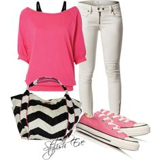 PINK and Black Outfit !, created by stylisheve on Polyvore
