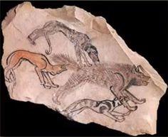Pre-dynastic Egyptian petroglyph fragment
