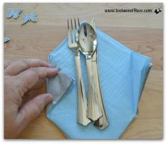 Fold napkins at opposite corners - How to Make Paper Napkins Special