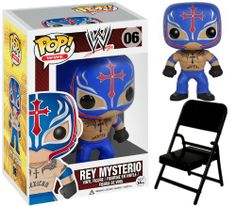 REY MYSTERIO – WWE POP VINYL WWE FUNKO TOY WRESTLING ACTION FIGURE (WITH FOLDING CHAIR – COLORS MAY VARY) http://popvinyl.net #funko #funkopop #popvinyl #nerd