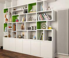 modern built in bookshelf - Google Search