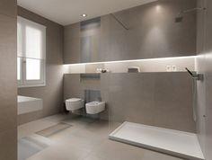 Badezimmer mit warmen beige-braunen Nuancen gestalten | Bad ...