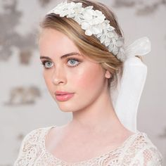 Annie embellished ribbon hairband