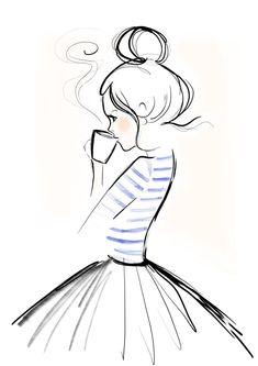Mondaycoffee, Monday, Coffee, Kera Till, Illustration #CoffeeArt