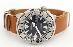NATO Brown Leather Watchstrap For Seiko Watches