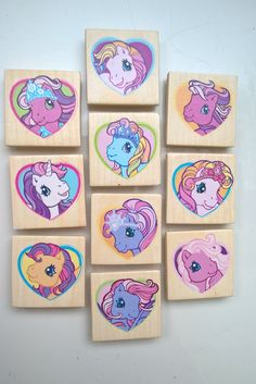 My Little Pony koelkastmagneet, set van tien, magneet, paard by JoorCreates on Etsy