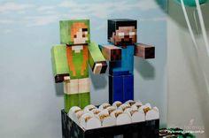 Minecraft Characters from a Minecraft Birthday Party via Kara's Party Ideas