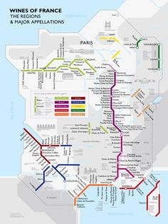 Check out this cool map of the wine regions in #France! #Wine (via: @Manuel Svay)
