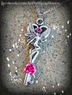Fairy Dance Fantasy Key Garden Pink by ArtbyStarlaMoore on Etsy, $15.00