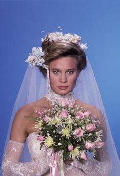 "Robin Wright early in her career on daytime soap ""Santa Barbara""  1985 Celebrity Wedding Photos, Celebrity Weddings, Robin Wright Young, Santa Barbara Soap Opera, 1980s Wedding, Soap Opera Stars, Soap Stars, Image Film, Wedding Movies"