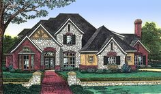 Find your dream english-country style house plan such as Plan which is a 3537 sq ft, 3 bed, 3 bath home with 3 garage stalls from Monster House Plans. House Plans 3 Bedroom, New House Plans, Country Style House Plans, Country Style Homes, English Country Decor, French Country, Mountain House Plans, Monster House Plans, Castle House