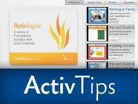 Great ActivTips from Promethean. Their latest is on creating a table of contents for your flipcharts! These are great ways to learn a bunch of neat things quickly to make you more fluent with ActivInspire. Check them out!