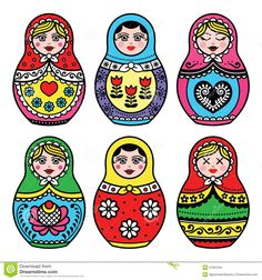 Matryoshka, Russian Doll Colorful Icons Set - Download From Over 63 Million High Quality Stock Photos, Images, Vectors. Sign up for FREE today. Image: 57301234