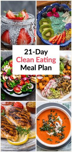 If you're looking for healthy recipes for weight loss here's all you need to start eating clean-the easy way! These easy clean eating recipes for breakfast, lunch, and dinner are full of fat burning foods to help you lose belly fat and lose weight. Whether you're on the 21 Day Fix, or high-protein, low carb diet you'll love this clean eating meal plan designed to help you meet your health, weight loss, and fitness goals while eating delicious, healthy meal #StomachFatBurningFoods Healthy Eating Meal Plan, Easy Clean Eating Recipes, Clean Eating Dinner, Healthy Recipes For Weight Loss, Good Healthy Recipes, Healthy Meals, Quick Recipes, Healthy Smoothies, Healthy Weight