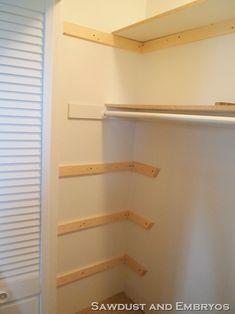 How to build custom shelving.