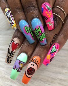 n a i l s nails, acrylic nails и gel nails Fabulous Nails, Gorgeous Nails, Dope Nails, Fun Nails, Shiny Nails, Nagel Bling, Nail Swag, Nagel Gel, Best Acrylic Nails