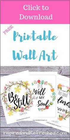 Print these six free quality PDF's of Christian printable wall art to encourage you all around your home. Many links to other great printables too! Scripture Wall Art, Scripture Cards, Printable Bible Verses, Printable Wall Art, Printable Designs, Free Printables, Christian Wall Art, Christian Decor, Christian Living