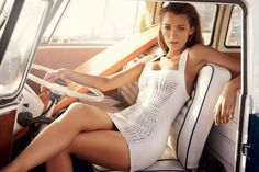 """Blake Lively in a white-leather Versace dress """"that gives the body-con trend a cleaner-looking reboot."""""""