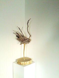 Driftwood bird  Driftwood Art  Sculpture  27 inches by Ammoudia, $300.00