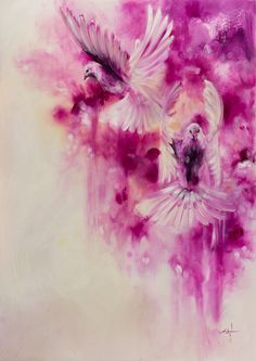 'Magenta' by Katy Jade Dobson / oil painting / The 21 Grams Collection