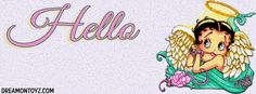 Hello MORE Betty Boop Banners http://bettyboopcovers.blogspot.com/ and on Facebook  https://www.facebook.com/bettyboopcovers/photos_stream?tab=photos_albums Angel  Betty Boop with glowing halo Facebook Timeline Cover