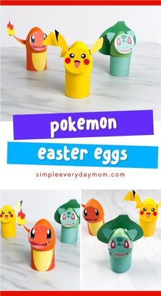 Learn how to make these fake Easter egg Pokemon. It's an easy DIY Easter activity kids will have fun making! activities for toddlers outdoor 5 Fantastic Pokemon Easter Eggs Your Boys Will Want To Make Every Year Easter Crafts For Kids, Toddler Crafts, Easter Ideas, Pokemon Easter Eggs, Easter Activities For Kids, Egg Decorating, Easy Diy, Pikachu, Christmas Cookies