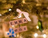 Baby's First Christmas - Personalized Scrabble Christmas Ornaments