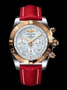 Chronomat 41 A bit more bling than I am comfortable with, but wow, that red! Breitling Chronomat 41 bit more bling than I am comfortable with, but wow, that red! Fine Watches, Men's Watches, Watches Online, Luxury Watches, Cool Watches, Fashion Watches, Watches For Men, Ladies Watches, Breitling Watches Women