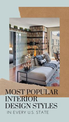 The Sliding Door Company, a leading manufacturer of contemporary interior glass doors and decorative room dividers, reveals the most searched for interior design styles in each state for Sliding Door Company, Sliding Doors, Decorative Room Dividers, Chicago Style, Open Layout, Exposed Brick, Most Popular, Contemporary Interior, Glass Door