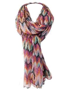 Pink, Orange, and Aqua Pattern Scarf - $15.00 : FashionCupcake, Designer Clothing, Accessories, and Gifts