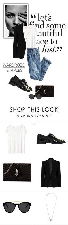 """#wardrobestaple"" by gizaboudib on Polyvore featuring moda, H&M, J.Crew, Coliàc Martina Grasselli, Yves Saint Laurent, rag & bone, Smoke & Mirrors, Michael Kors y WardrobeStaple"