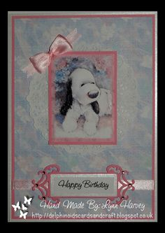 Delphinoid's Cards and Craft: Birthday Card - Barkley and Bow